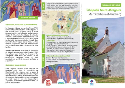 WEB – CHAPELLE SAINT-GREGOIRE – MARCKOLSHEIM MAUCHEN